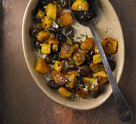 Roast squash chestnuts recipe recipes bbc good food food roast squash chestnuts recipe recipes bbc good food forumfinder Image collections