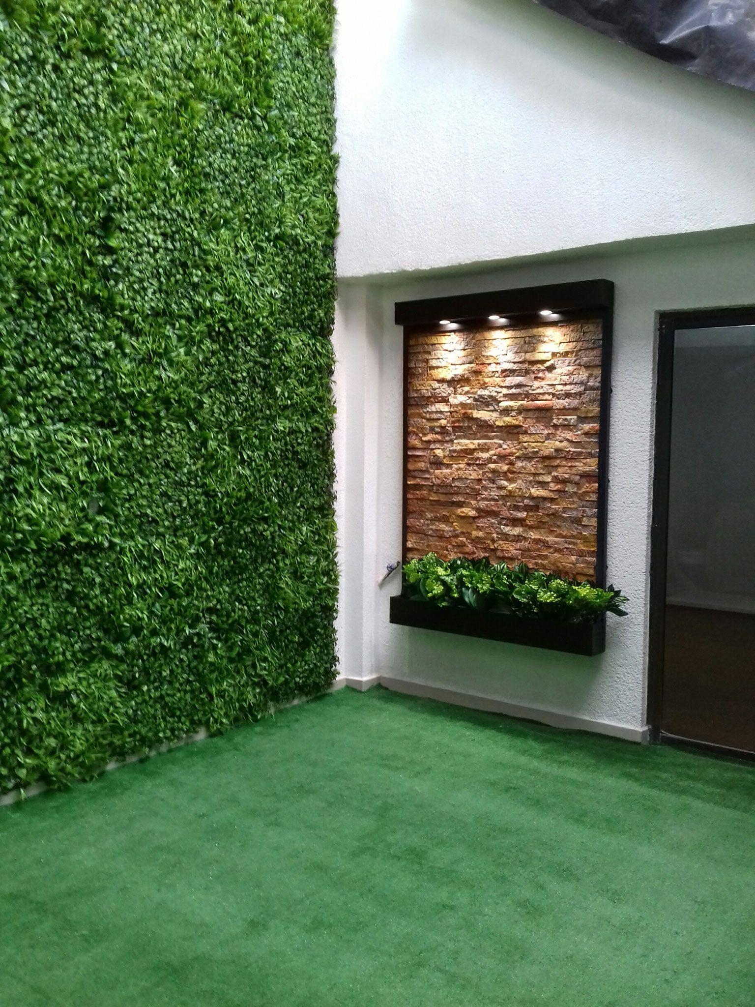 Fuentes de pared o muros llorones mi jard n en 2019 decoracion terraza pared exterior y - Fuentes de pared modernas ...