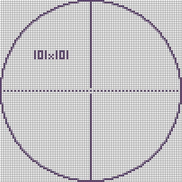 Pixel Circle Chart