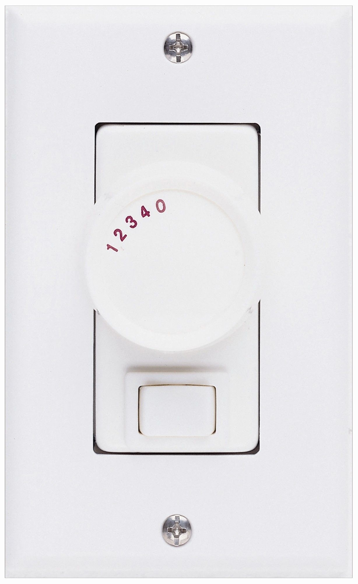 Three Way Ceiling Fan Rotary Wall Control Unit in White | Control ...