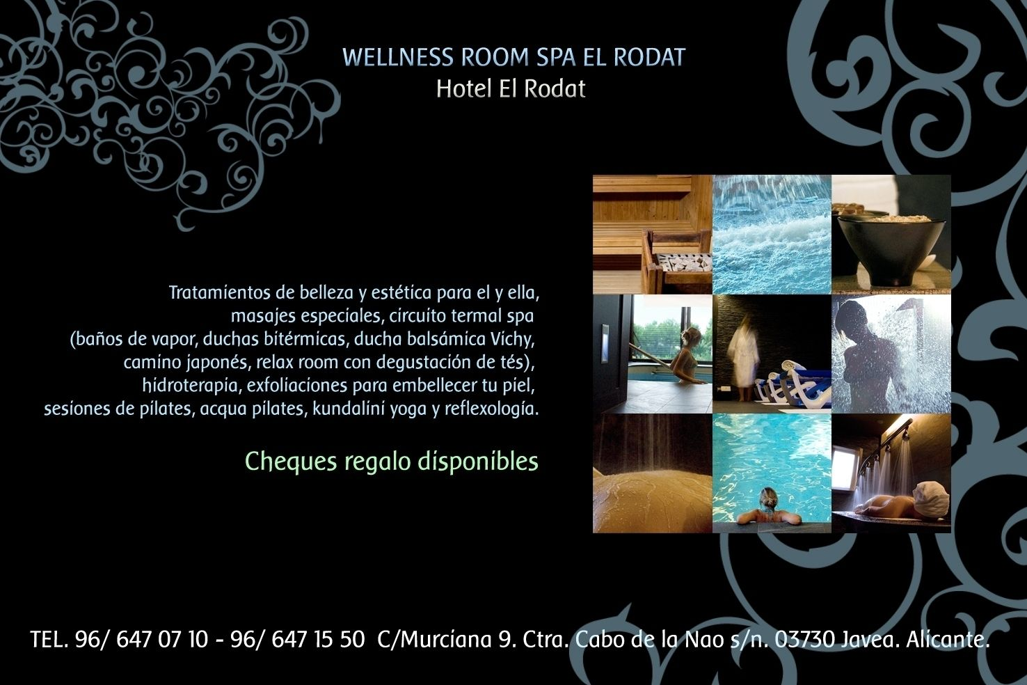 Circuito Wellness : Flyer wellness room spa hotel el rodat jávea el spa