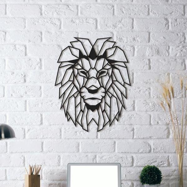 Delightful Fancy | Lion Head | Metal Wall Art