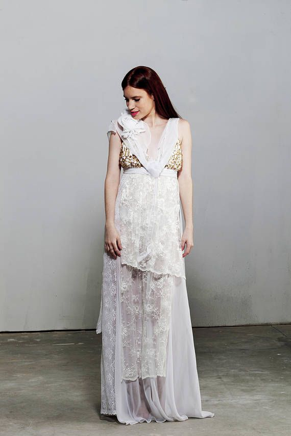 Vintage Lace Dress Lace Wedding Dress Vintage Clothing Boho | Lace ...