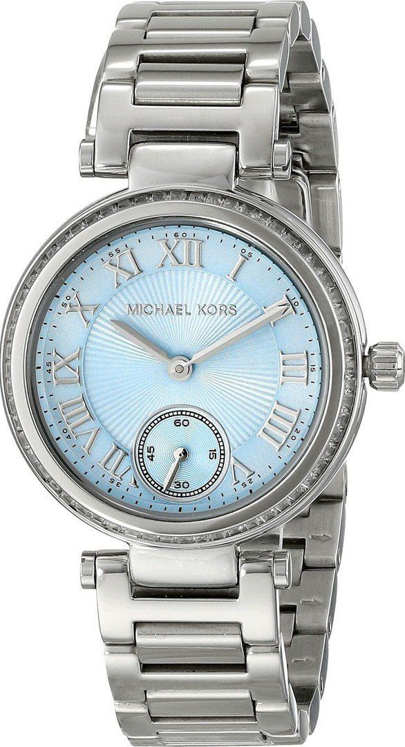 7b4f44cf4f4 Amazon.com  Michael Kors Mini Skylar Light Blue Womens Watch MK5988  Michael  Kors  Watches