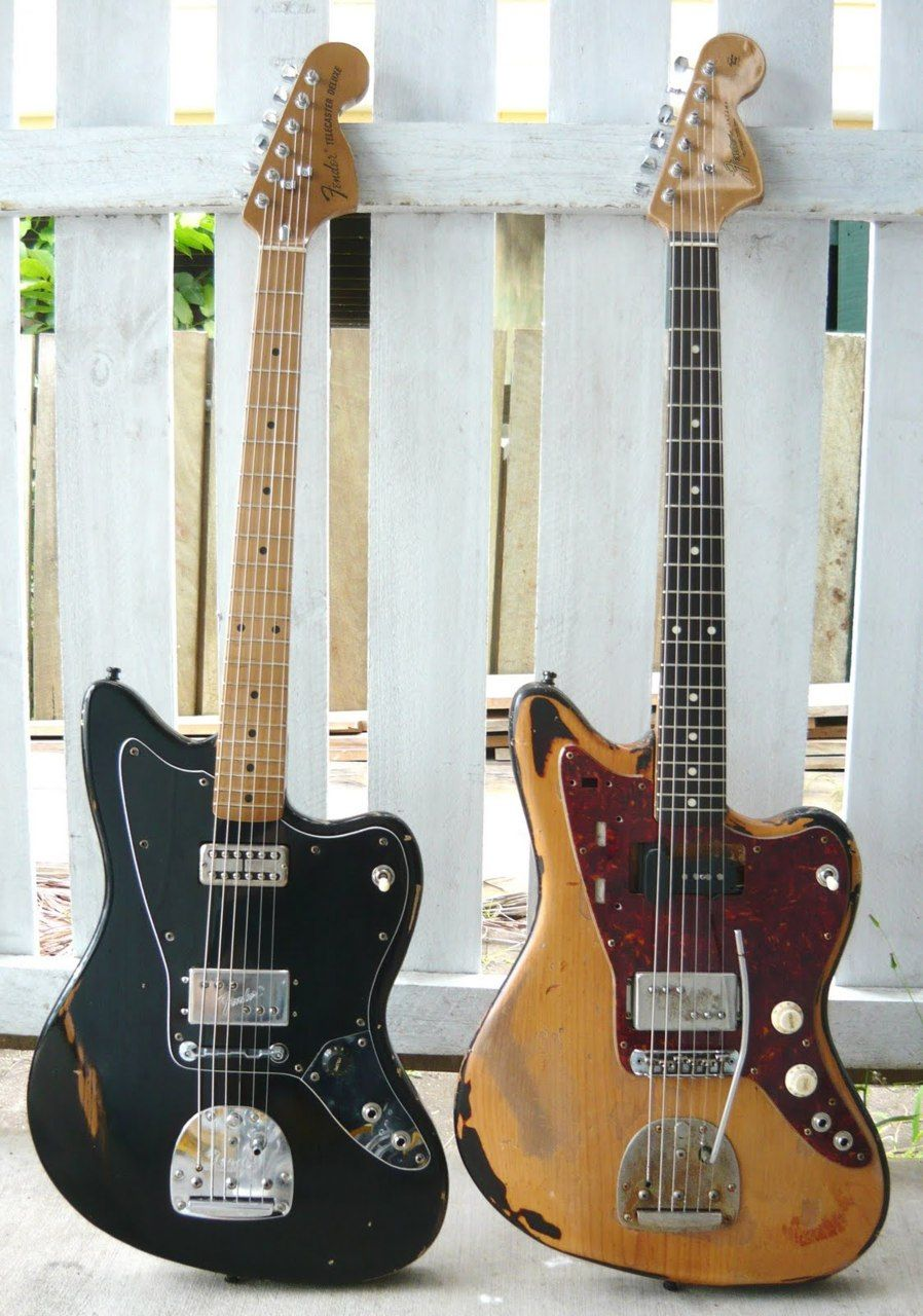 Old Fender Jazzmasters --- want want want. The go-to guitar for shoegaze.    I really want to play around with one of these someday. #fenderguitars