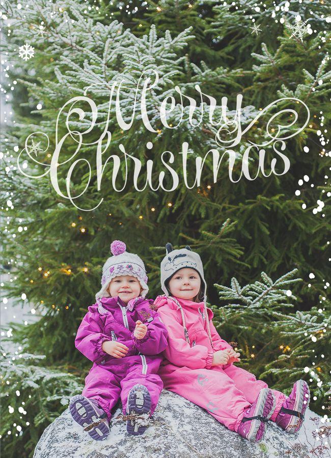 Saa Kurkistaa - Sisustusblogi: Joulukortti Photoshopilla