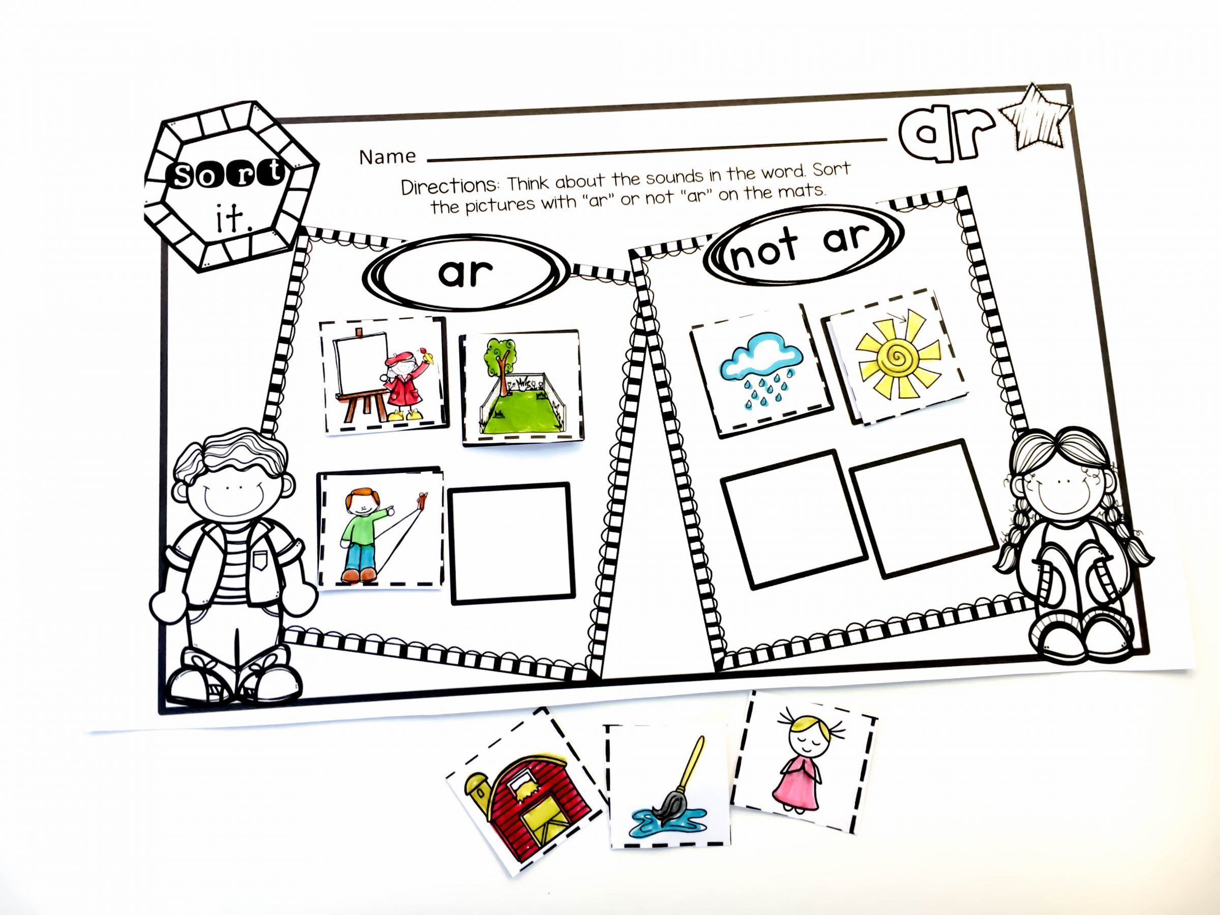 Fun And Simple Activities For Bossy R Amp A Freebie