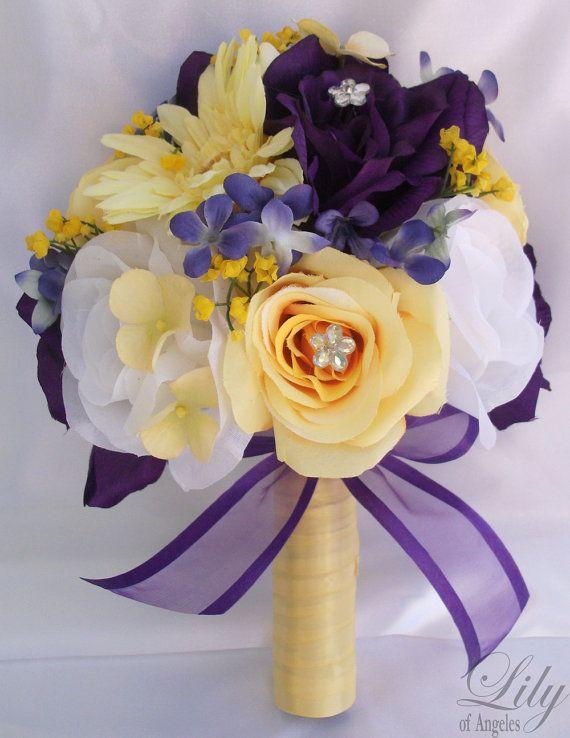 Wedding Bouquet Bridal Bouquet Bridesmaid Bouquet Silk Flower