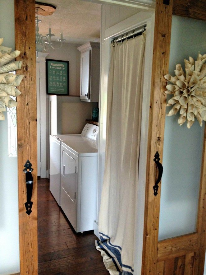 How To Hide Your Ugly Water Heater Laundry Room Pinterest