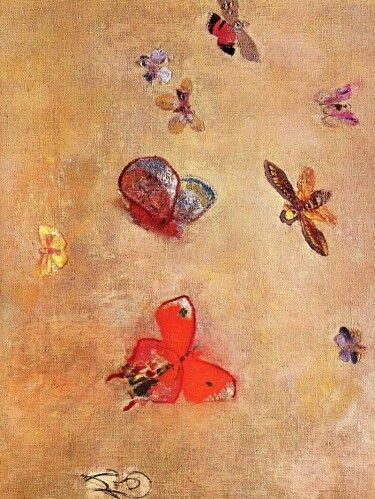 Odilon Redon - Butterflies