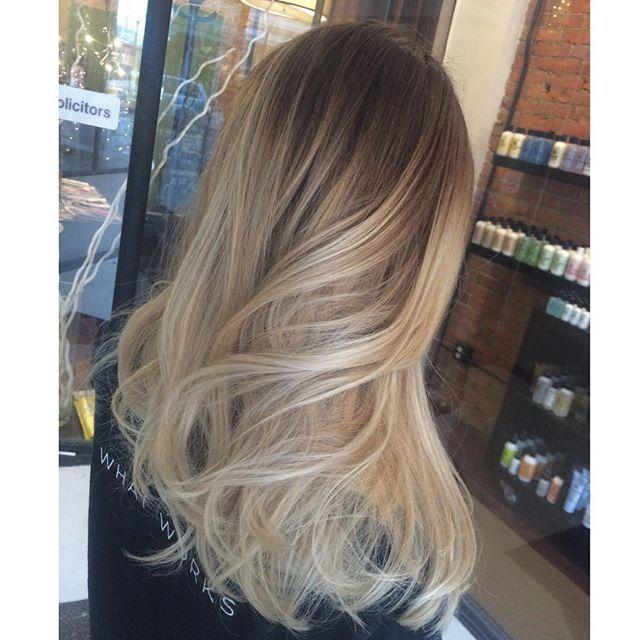 Melissa Van Peeren On Instagram Rooty Blonde Hand Painted Balayage Blonde Balayage Hair Melt