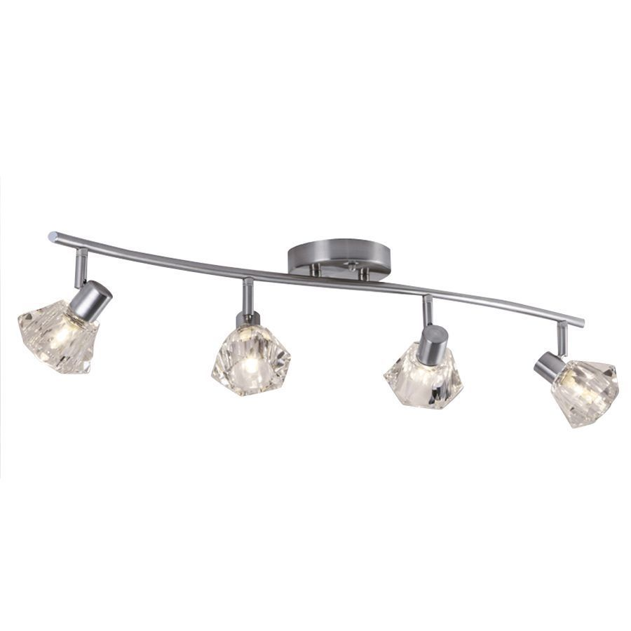 Portfolio 4 light 2992 in brushed nickel dimmable fixed track light portfolio 4 light 2992 in brushed nickel dimmable fixed track light kit aloadofball Gallery
