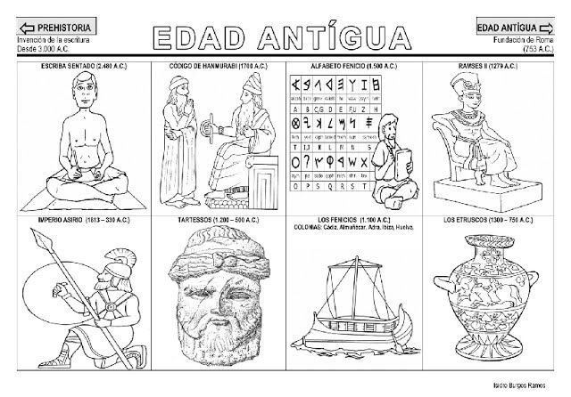 Fichas de la Edad Antigua | COMUNICACION | Actividades de historia