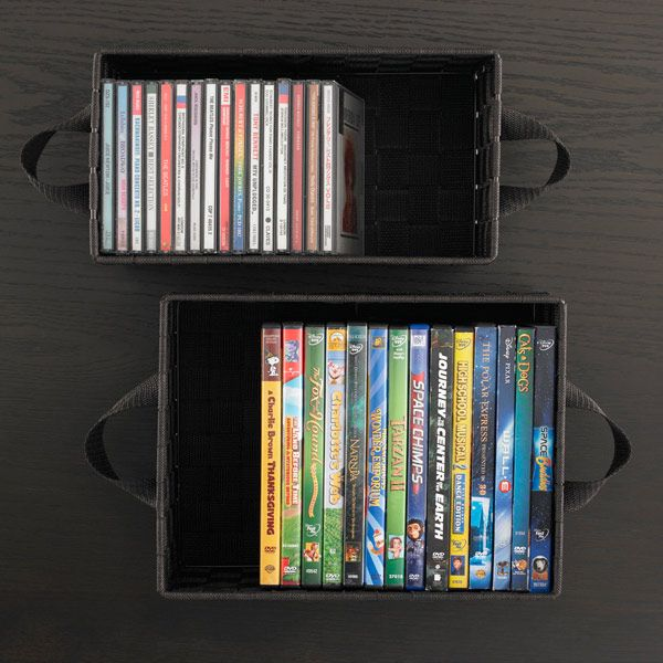 The Container Store Tribeca DVD Bin Organize it Pinterest