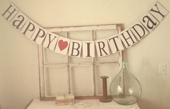 Birthday Banner Happy Birthday Sign Birthday by bannersandbeyond, $26.00