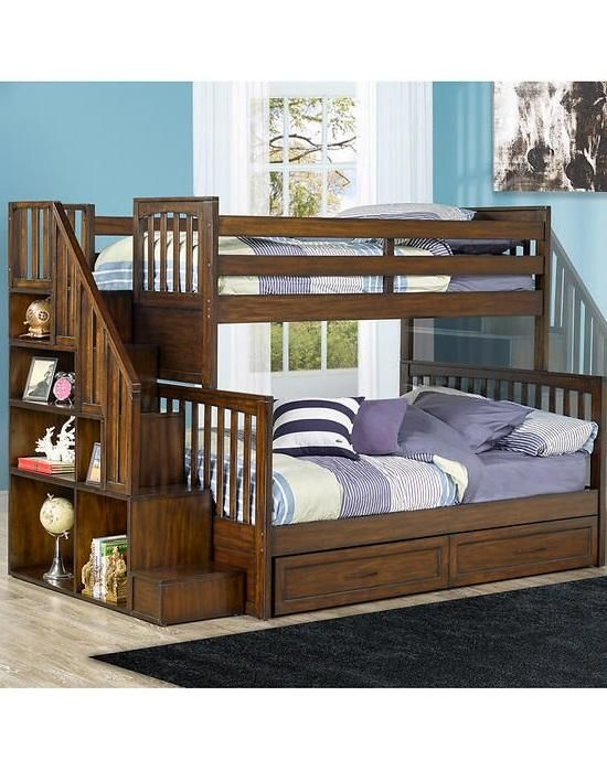 The Zachary Bunk Bed With Universal Stairs Features 6 Open