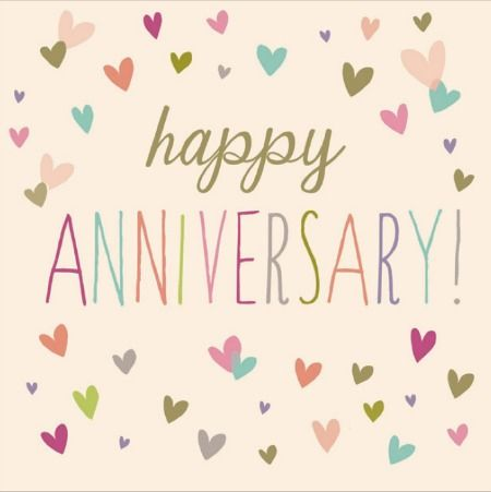 Congratulations! Happy Anniversary card from Woodmansterne - anniversary printable cards