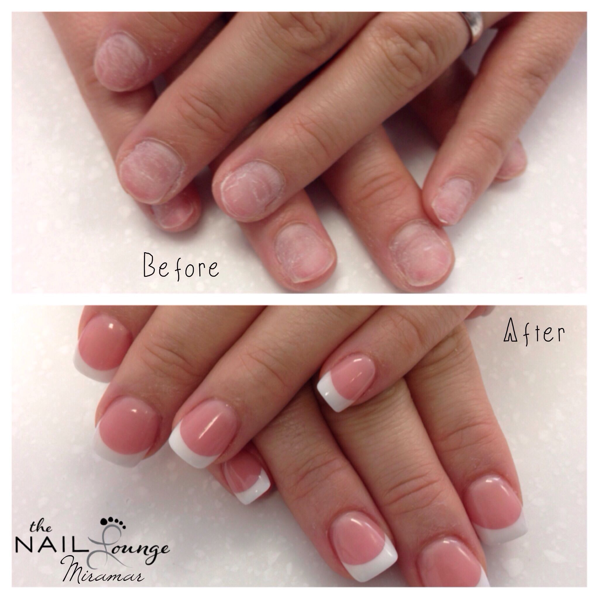 Nail Art Lounge: @the_nail_lounge_miramar Before/after Pink And White Full
