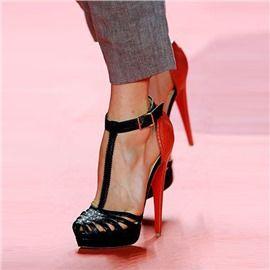 Ericdress Graceful Patchwork T Strap Stiletto Sandals