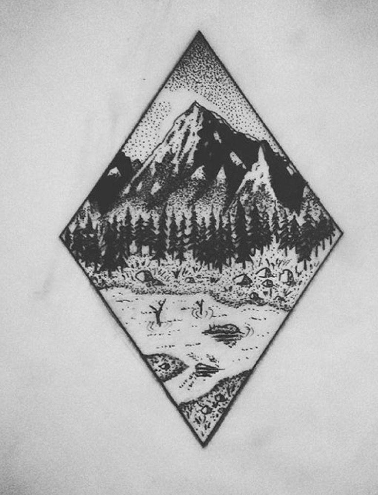 Pin by Abbey Lykins on Tattoos Geometric mountain tattoo