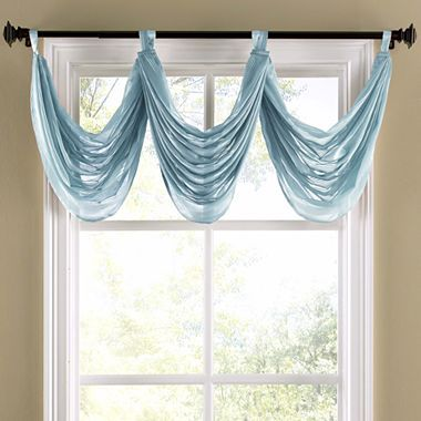 Prelude Stripe Tab Top Waterfall Valance   Jcpenney