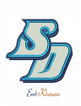 San Diego Toreros Logo Embroidery Design Embroidery Logo Chicago Bulls Logo Logo Design