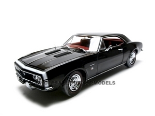 1967 Chevrolet Camaro Ss 350 Diecast Car 1 18 Black Die Cast Car