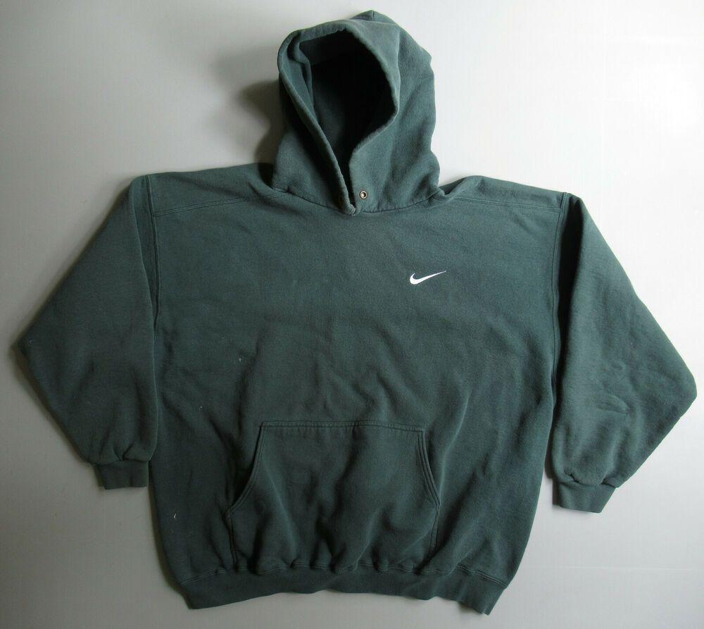 Vintage 90s Nike Mini Swoosh Distressed Faded Green Hoodie Sweatshirt Shirt Xl In 2020 Sweatshirt Shirt Sweatshirts Hoodie Green Hoodie