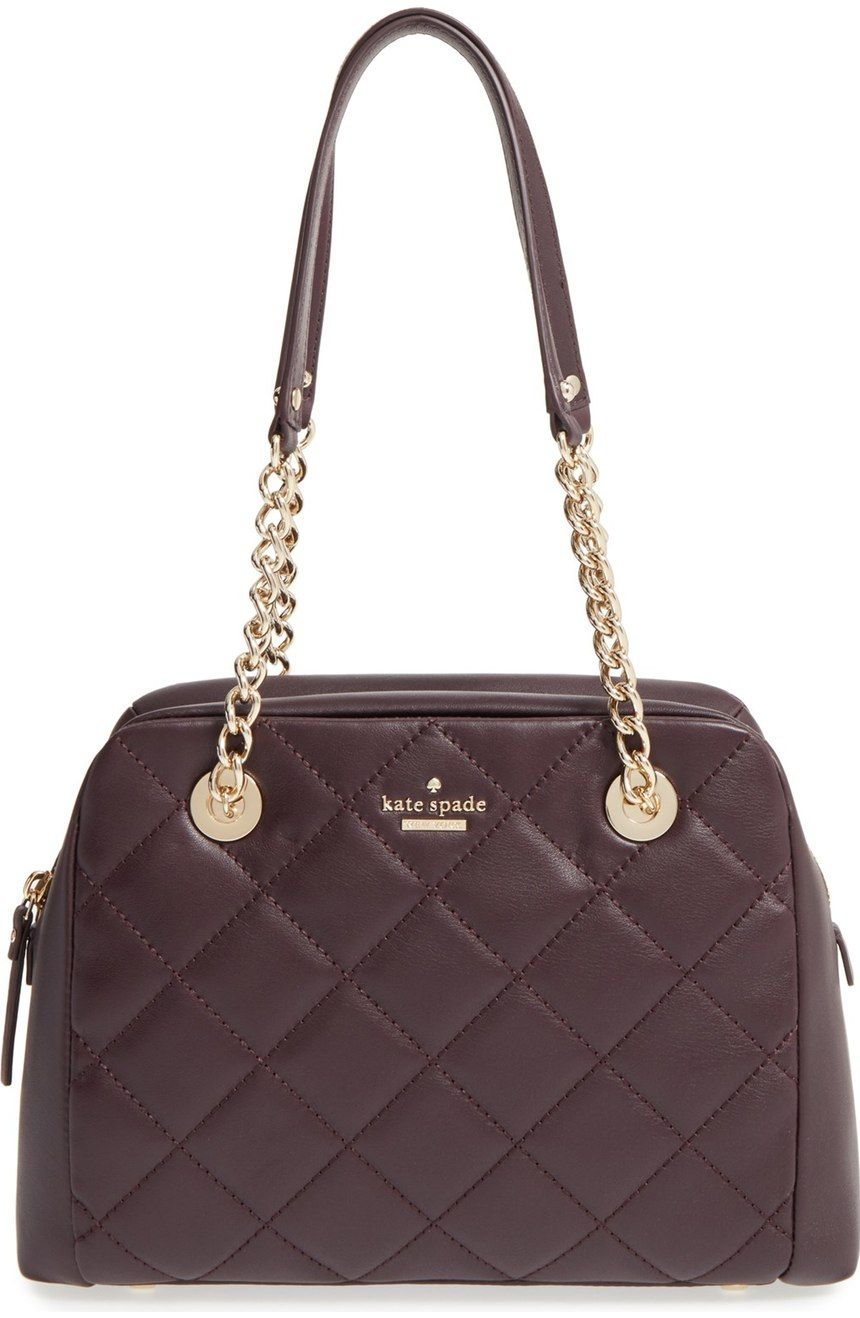 Lush quilted leather and a clean-lined silhouette extend the uptown-chic appeal…