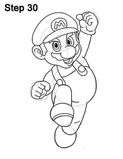 How To Draw Super Mario Easy Drawings In 2018 T