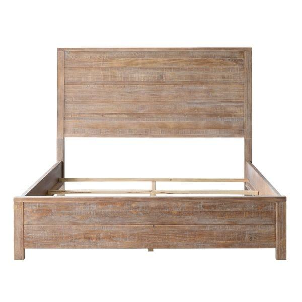 Solid Wood Bed Beds Furniture, Grain Wood Furniture Montauk Queen Solid Panel Bed Rustic Walnut