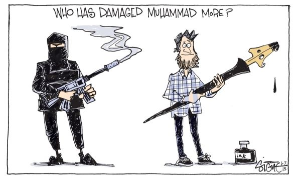 Strange Admission Santas Abhorrence Of Cultural Bullying - 24 powerful cartoon responses charlie hebdo shooting