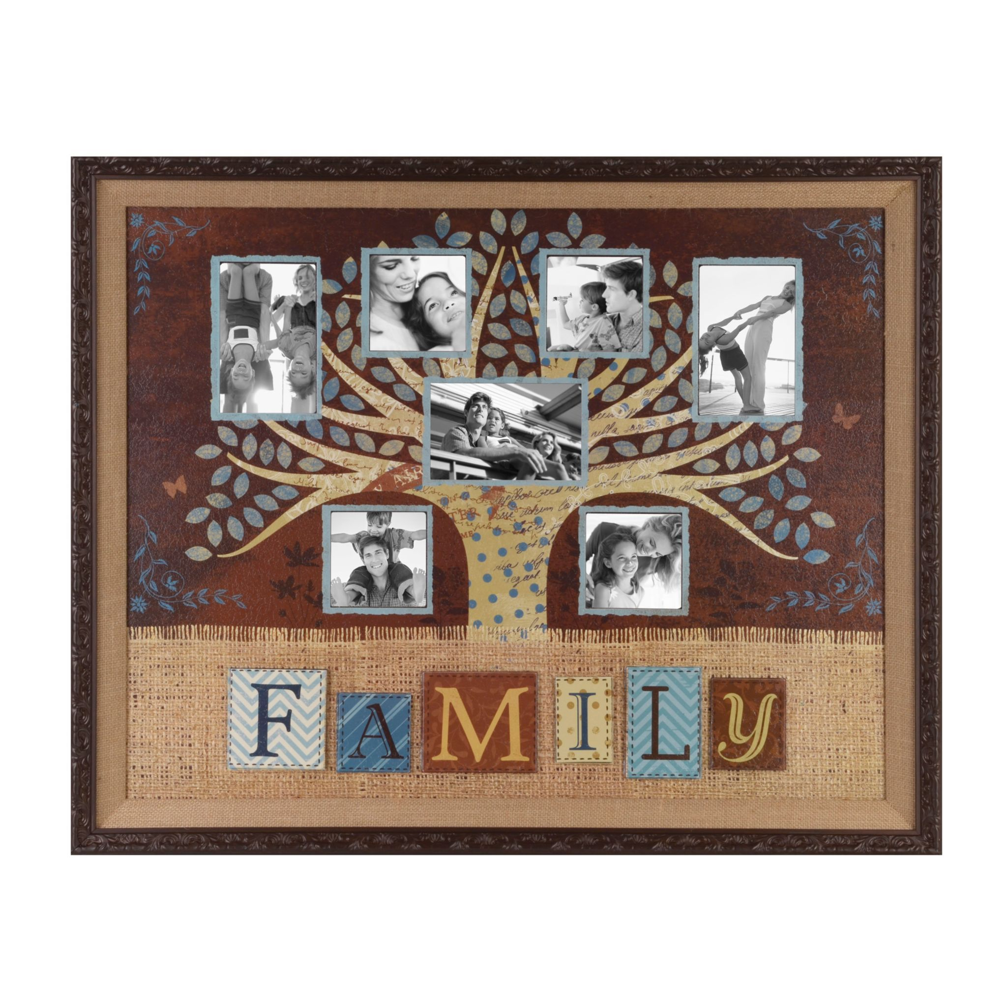 Brown & Blue Family Collage Frame