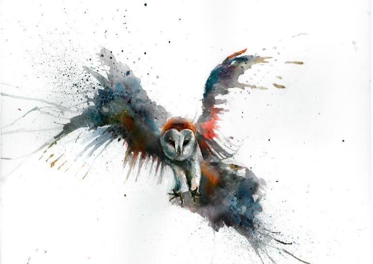 """Saatchi Art Artist Sarah Stokes; Painting, """"Eric in flight"""" #art"""