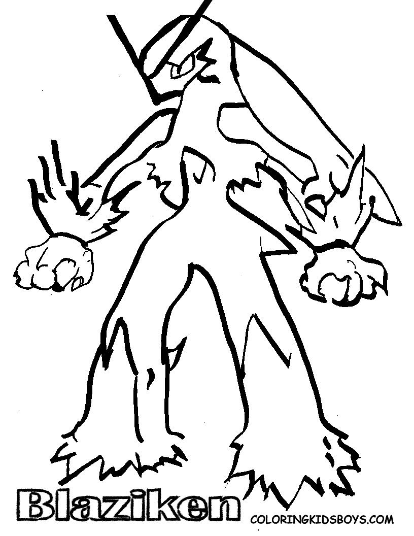 Pokemon Coloring Pages Blaziken