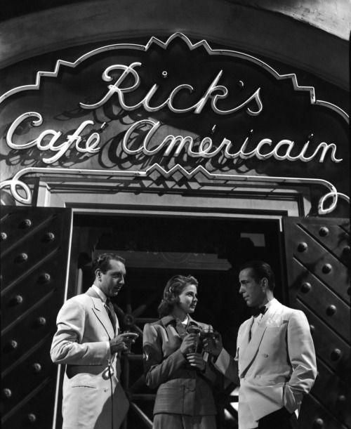 "Paul Henreid (January 10, 1908 - March 29, 1992)   here with Ingrid Bergman & Humphrey Bogart in ""Casablanca"""