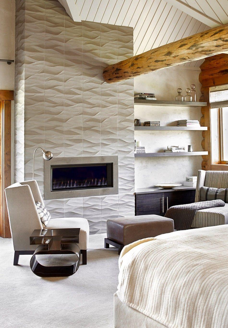 Colorado-log-cabin-master-bedroom-fireplace