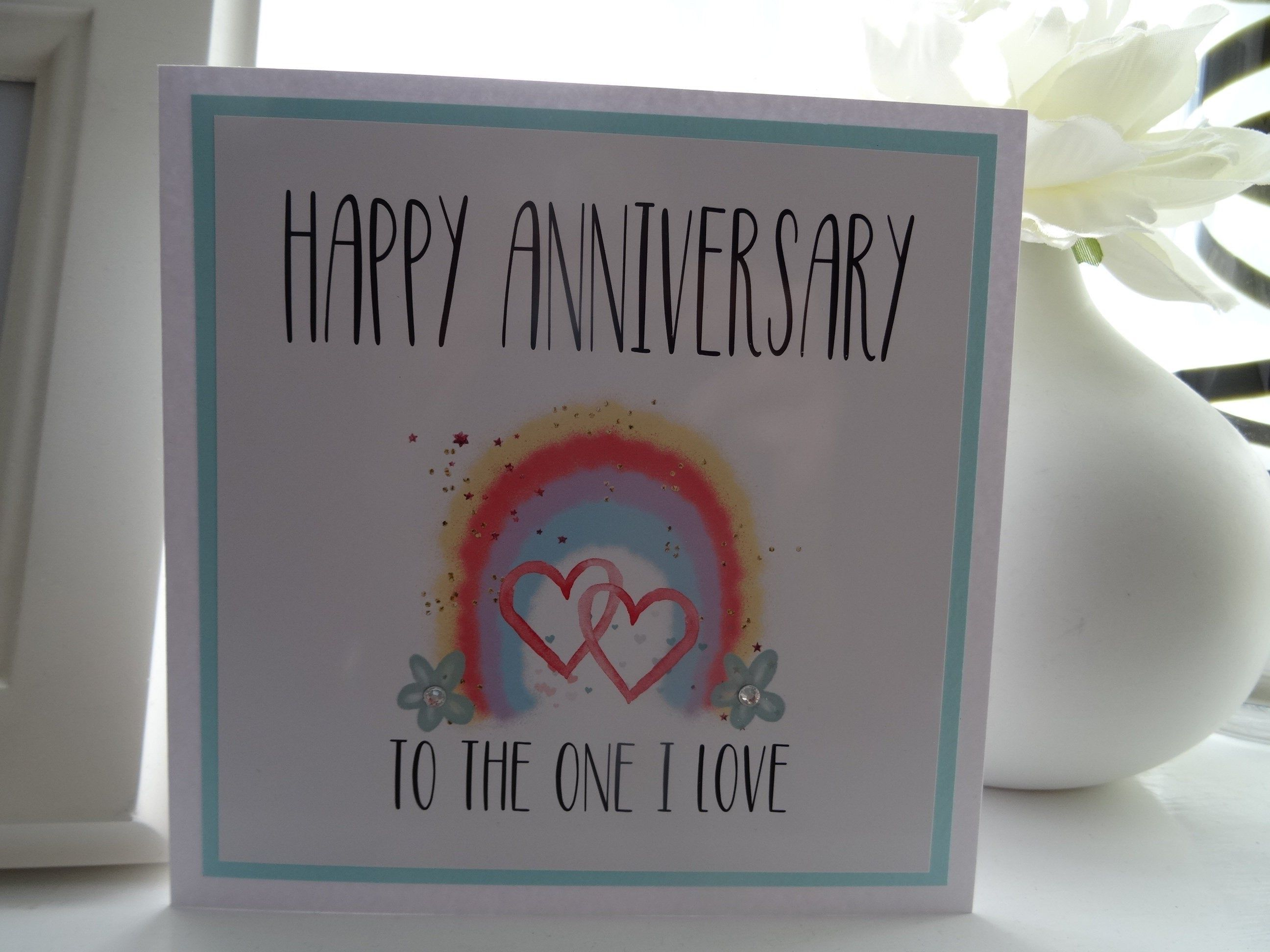 happy anniversary to the one i love handmade card with