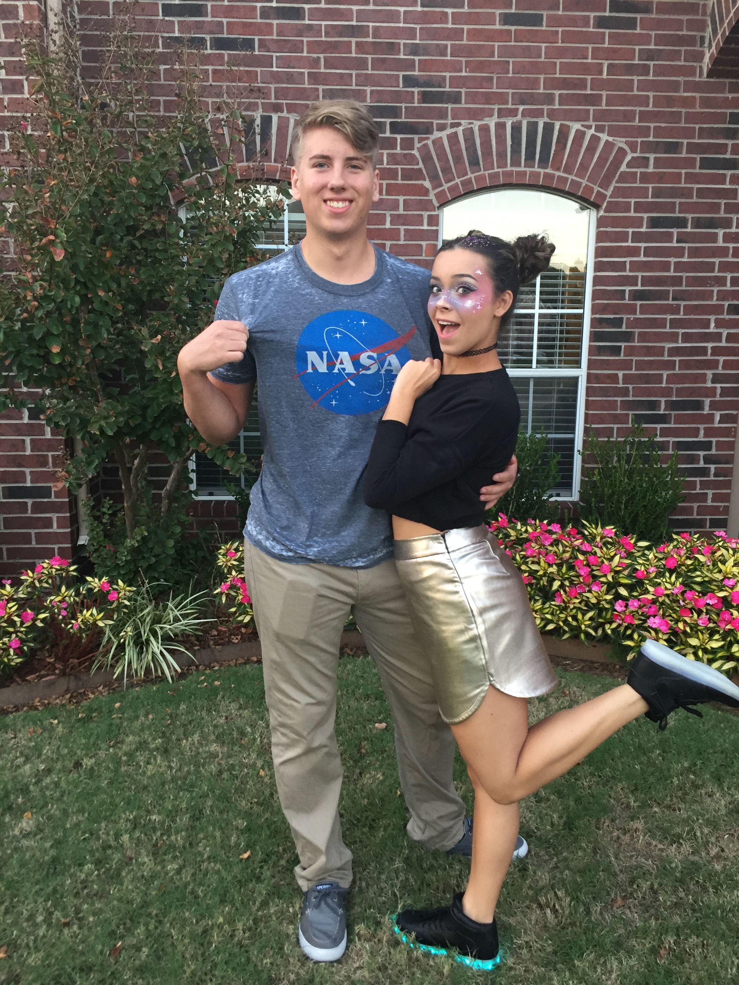 Easy couples costume. NASA shirt from target 14$. Skirt ...