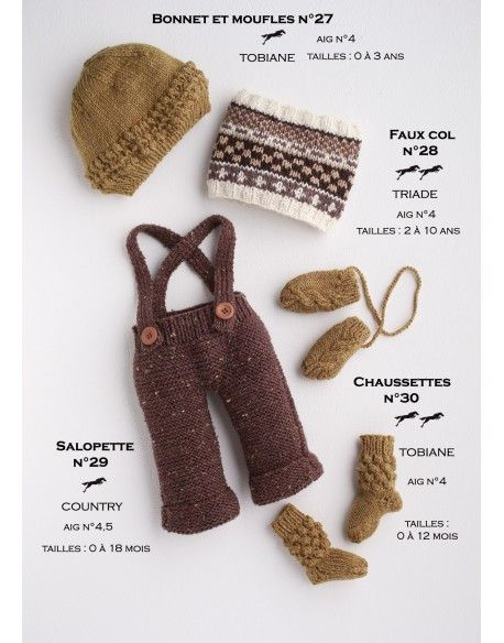 Model Bonnet and Mittens CB17-27 - Free knitting pattern