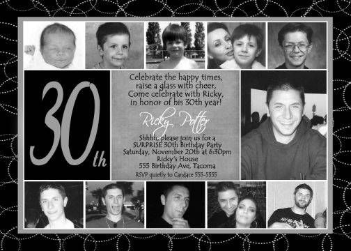 Funny 30th Birthday Invitations For Men – Male 30th Birthday Invitations