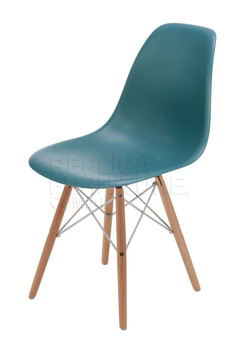 Replica Charles Eames Chair Wood Legs With Steel Cross Hatch
