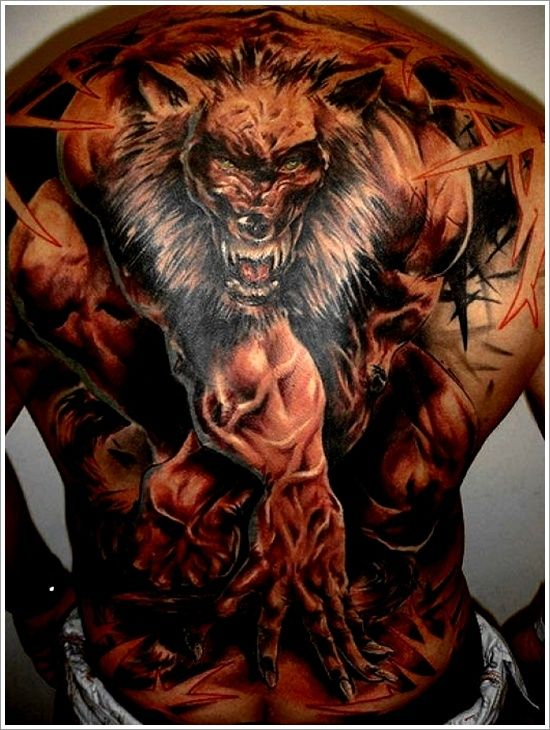 35 Meaningful Wolf Tattoo Designs Wolf Tattoos Werewolf Tattoo Back Tattoos For Guys