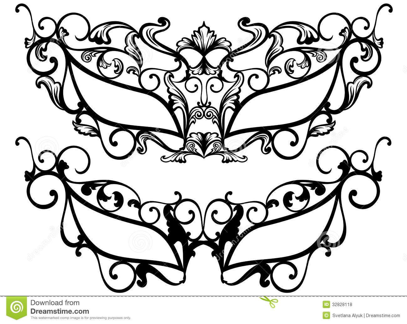 Masquerade Masks Vector Royalty Free Stock Photos   Image: 32828118  Free Mask Templates