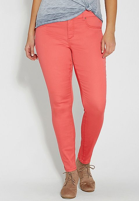 DenimFlex™ plus size jegging in coral pop | maurices