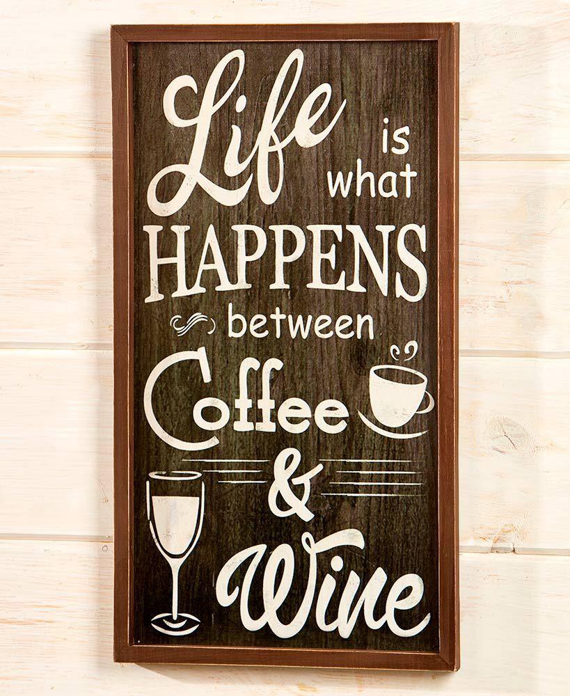 Coffee and Wine Wall Art  Wine decor kitchen, Wine wall decor