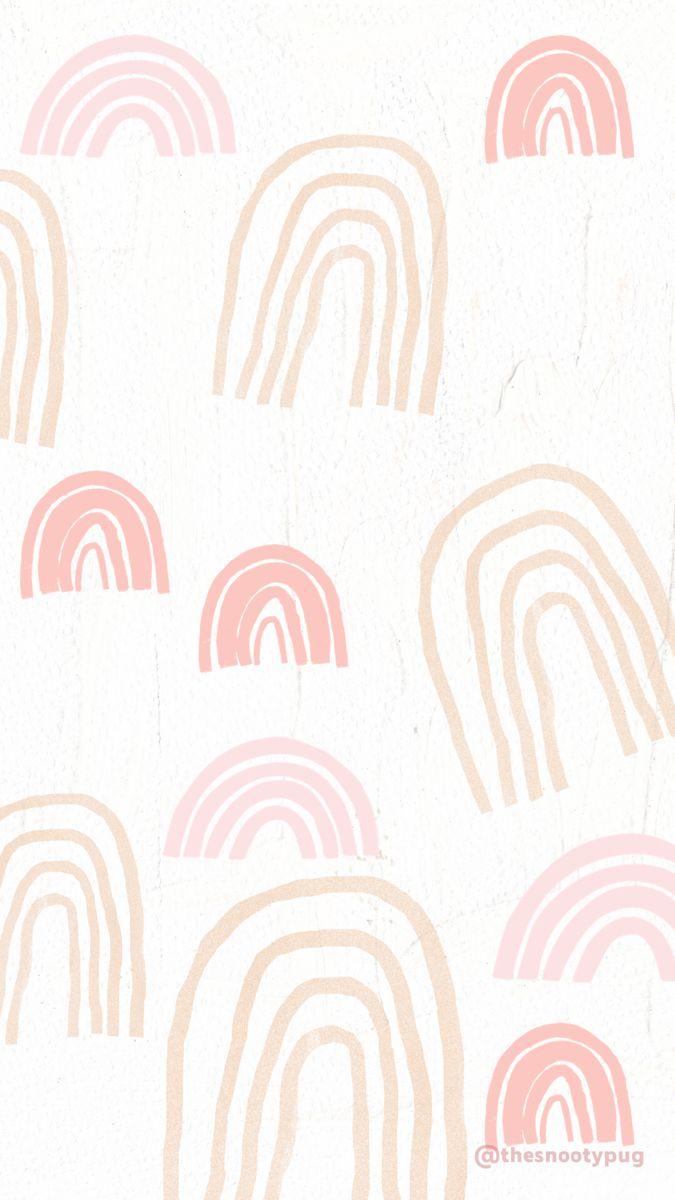 trendy rainbow wallpaper