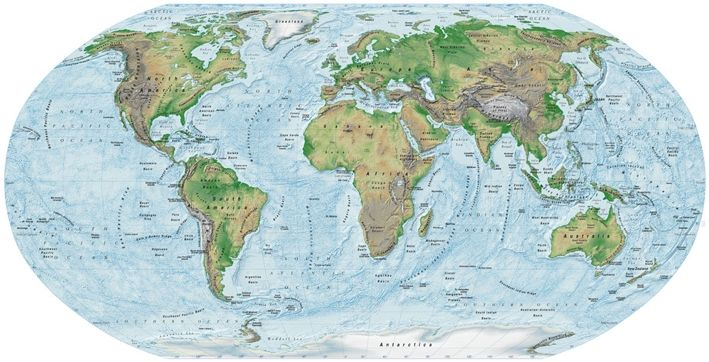 World Topographic Map map illustrations political maps showing the ...