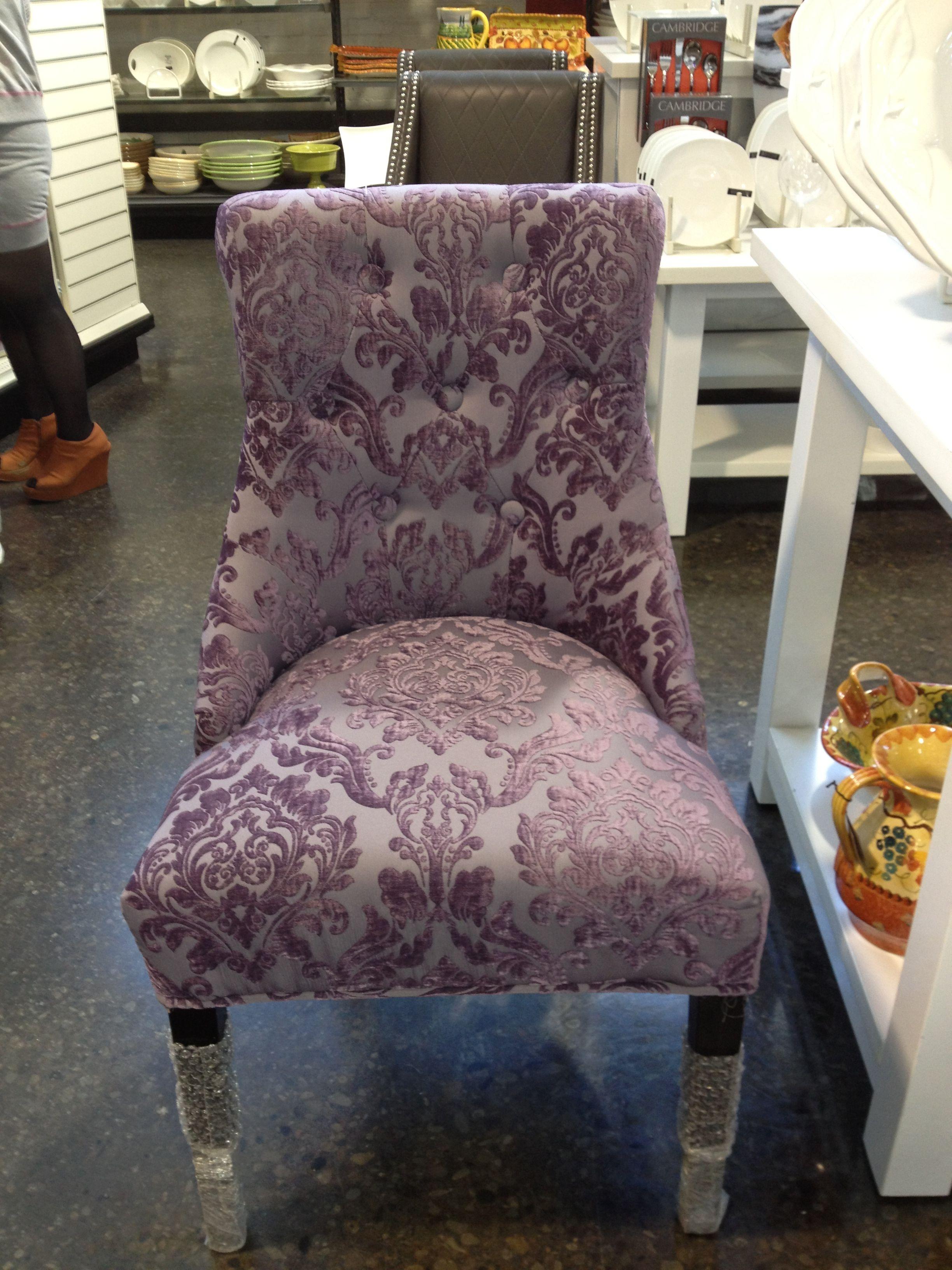 Purple vintage chair for bedroom decor