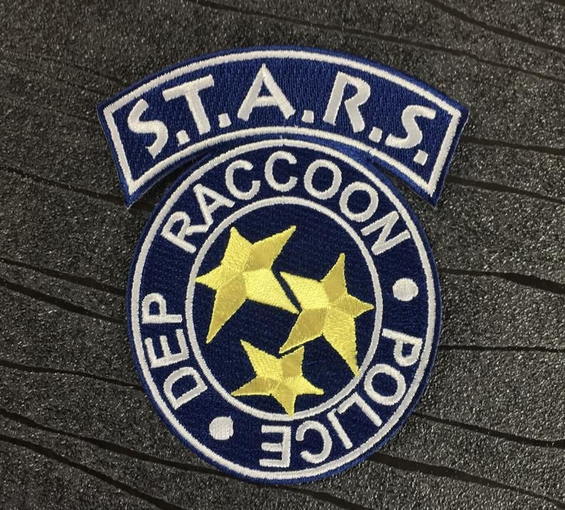 Resident Evil S T A R S Raccoon City Police Department Iron On Patch In Blue 100mm X 85mm Iron On Patches Resident Evil Patches